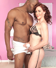 Redhead Catherine loves BBC Interracial Milf sex!